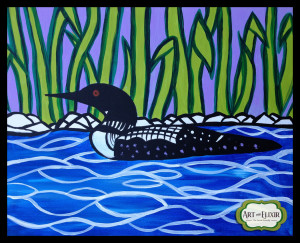 Stain Glass Loon