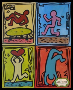 Keith Haring Stick Figures