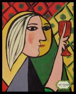 Picasso Girl With The Glass