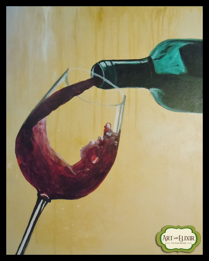Wine Pour Red
